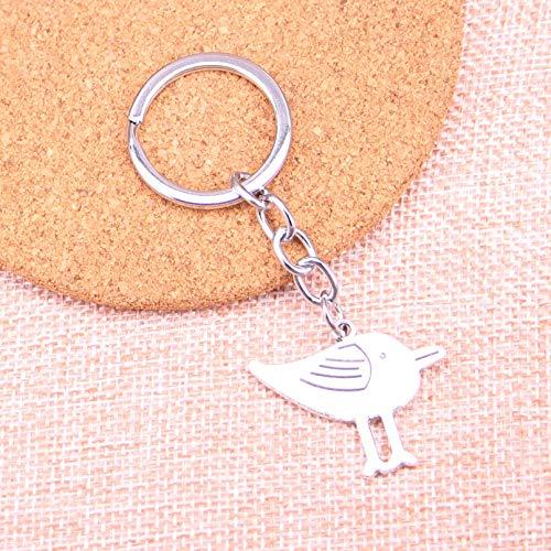 FGSDG Llavero Colgante con Encanto de pájaro de Doble Cara, Accesorios de Cadenapara Regalos