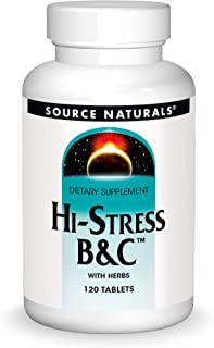 Source Naturals Hi-Stress B&C With Herbs - Supports A Healthy Mental Balance - 120 Tablets