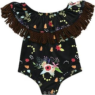 PAOLIAN Ropa para Babe Ni/ñas Verano Conjuntos Sin Tirantes Camisetas Diadema de 3 Meses 6 Meses 12 Meses 14 Meses Pantalones Cortos de Borlas Impresion de Girasol