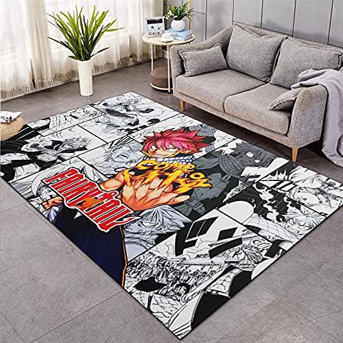 3D Alfombra de Anime Fairy Tail, alfombras de área de habitación de niños , Alfombra de Piso de Dibujos Animados-120X160CM-A_80x120cm