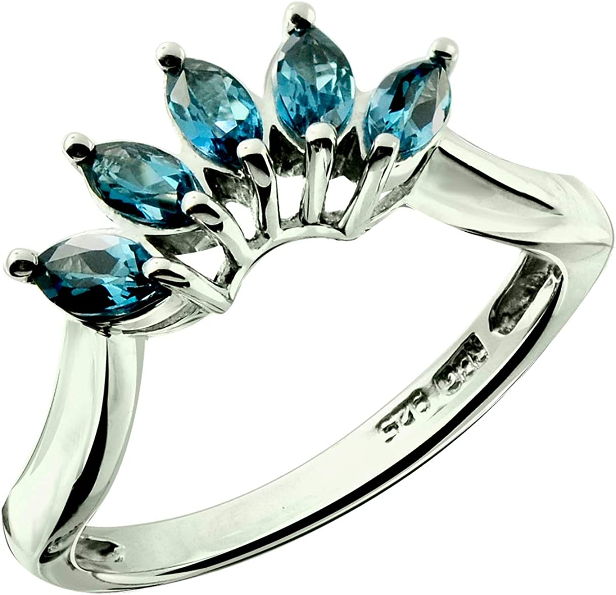 RB Now free shipping Gems Sterling Silver 925 Ring Marquise R 0.8 GEMS Genuine Outlet sale feature Cts