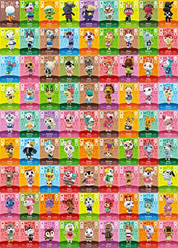 81 Pcs Pack ACNH for Series 1-4 Cards NFC Tag Mini Game Rare Character Villager Cards for Switch/Switch Lite/Wii U/New 3DS with Crystal Storage Box(1.25x0.85x0.05 inches)