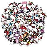 Hello Kitty Cat Hello Kitty Graffiti Pad Maleta refrigerador Pegatinas Impermeables no Repetir 50PCS