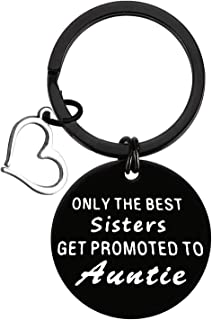 New Aunt Gifts Keyring Aunt Ever Gifts Keyring New Aunt Keyring for Sister Gift Best Aunt Key Chain for Sisters Best Friends Gifts Baby Reveal Gifts Christmas Birthday Gifts for Women