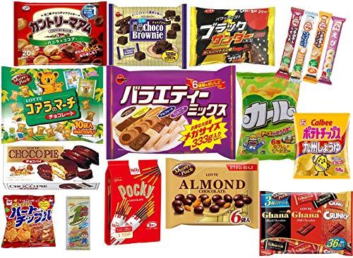 お菓子 大量 セット チョコレート スナック 詰め合わせ (ブラックサンダー、バラエティミックス(アルフォート、ふんわりバーム2種・チョコ&コーヒークッキー・ミニルマンド)、カントリーマアム、ポッキー、コアラのマーチ、チョコパイ、アーモンドチョコレート、チ