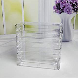 Transparent Acrylic Cosmetic Storage Box, It is Very Convenient to Organize Cosmetics, and Looks Elegant On The Bathroom Counter Or Dressing Table. Clear Design and Easy to View
