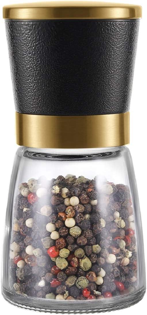 Gold Max 59% OFF Salt and Pepper Grinder Ceramic VEVOK CHEF 1PCS Sales results No. 1 Adjustable