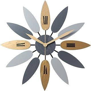 HOTHONG Silensieuse Ronde 3D Diy Num/éRos Romains Acrylique Miroir Sticker Mural Horloge D/éCor /À La Maison Stickers Muraux Design Maison//Cuisine//Chambre//Salon//Bureau Personnalis/é Vintage