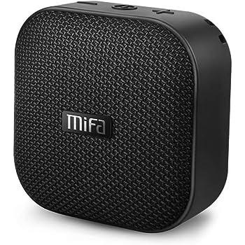 MIFA A1 Bluetoothスピーカー 防水耐衝撃 コンパクトで持ち運びに便利 Micro SDカード対応 USB充電 ワイヤレス TWS機能でステレオサウンド 12時間連続再生 マイク内蔵 吸盤付き(ブラック)