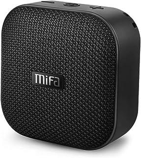 MIFA A1 Bluetoothスピーカー IP56防塵防水/コンパクト/持ち運びに便利/TWS機能でステレオサウンド/12時間連続再生/ハンズフリー通話/Micro SDカード対応(ブラック)