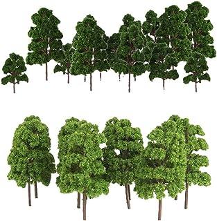 30x järnväg järnväg modell träd 1/75-1/200 skala Diorama arkitektur byggnad