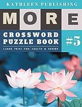 Crossword Puzzle Books: More Crosswords Quiz for beginners Large Print for adults & senior | Lotus flowers design (crossword books quick)
