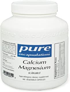 Pure Encapsulations - Calcium Magnesium (Citrate) - Highly-Absorbable, Hypoallergenic Calcium Supplement with Magnesium - 90 Capsules