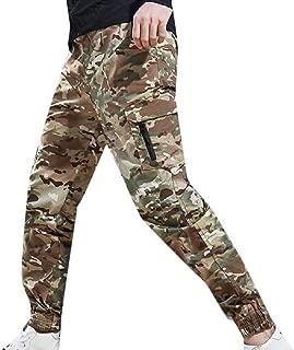 XINHEO Men's Floral Soft Rugged Wear Multicam Tapered Combat Karate Pants