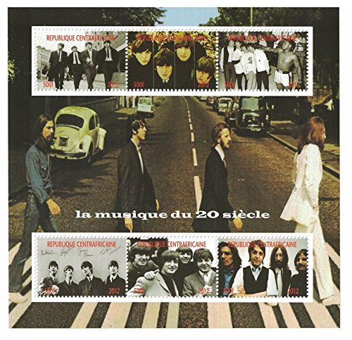 Francobollida collezione –Foglio di francobolli dei Beatles con immagini del gruppo musicale/Abbey Road