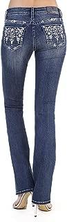 Womens Bootcut Stretch Jeans | Embellished Back Pocket | EB81369