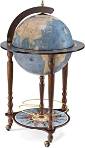 Da Vinci Blue Dust Bar Globe Made in Italy with Certificate of Authenticity