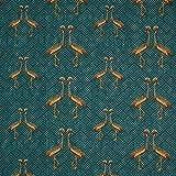 Fabulous Fabrics Jacquard Petrol, Pflanze, 140cm breit