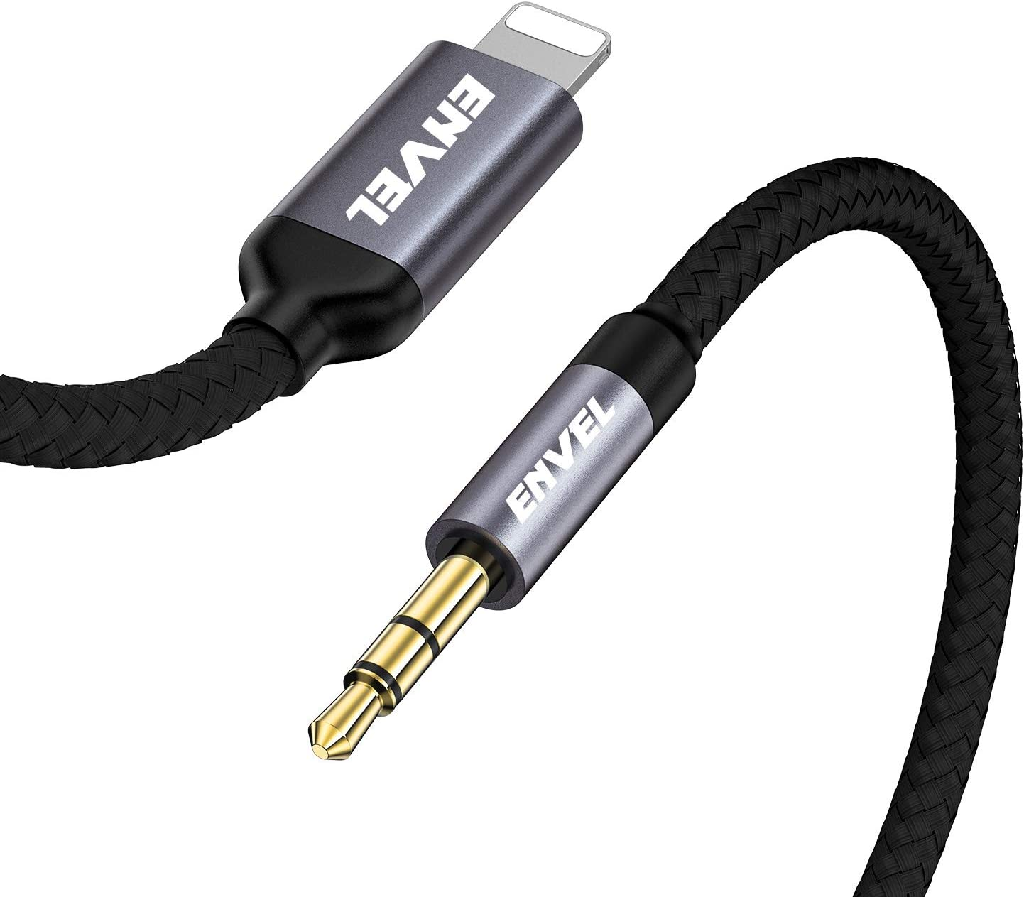 Support Newest iOS 11.4//12//13.1 ENVEL 3.5mm Aux Cable Compatible with iPhone,Aux Cord Compatible with iPhone 11//7//X//8//8 Plus//XS Max//XR to Car Stereo//Speaker//Headphone Adapter