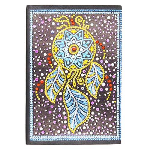 DIY Diamond Art Kreuzstich Notizbuch liniert A5 Schreibnotizbuch Geheimes Tagebuch für Mädchen Skizzenbücher für Erwachsene Tagebücher Herren kreatives Geschenk Traumfänger 60 Blätter 120 Seiten
