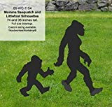 WoodworkersWorkshop Woodworking Plan to Make Your Own Mama Bigfoot and Littlefoot Sasquatch Yard Art Includes FREE TRACING PAPER!