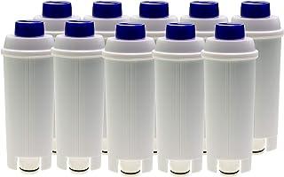 Lot de 10 filtres à eau compatibles avec les machines à café DeLonghi Autentica ECAM23 Dedica Dinamica Eletta ESAM6720 Mae...