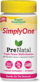 Super Nutrition - Simply One Prenatal Triple Power Multivitamins 30 Tablets 119933