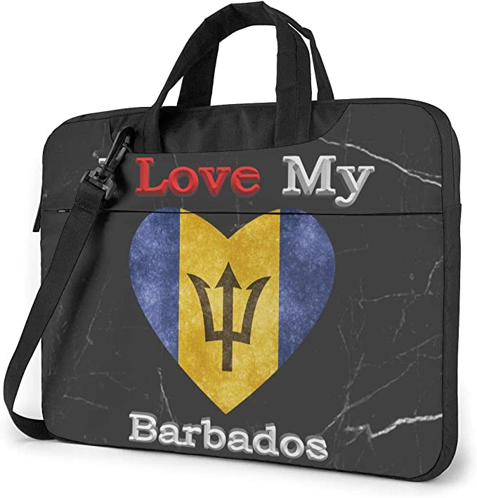 I Love My El Salvador Heart Flag Laptop Bag One Shoulder Shockproof Laptop Bag