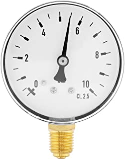 Chrome Bezel 0//160 psi Range 1//4 Male NPT Connection Size and Plastic Lens Bottom Mount Single Scale Dry Pressure Gauge with a Black Steel Case PIC Gauge S101D-354F 3.5 Dial Brass Internals
