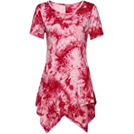 Women Plus Size Summer Tops Todaies❤ Women Casual T-Shirt O-Neck Blouse Ptinted Short Sleeve...