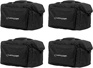 (4) American DJ Slim Par & Pocket Spot/Roll/Scan Light Effect Cases   F4 Par Bag