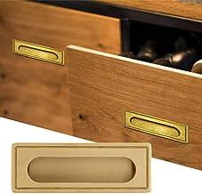 wosume Ingebouwd handvat, messing inbouw meubelgreep keukenkast kast kast lade trekken
