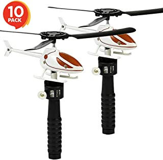 ArtCreativity Flying Helicopter Set for Kids - 10 Pack - Fun Fly Toys for Indoors or Outdoors - Great Birthday Party Favors - Goodie Bag Fillers - Gift Idea for Boys, Girls, Toddlers