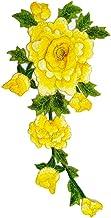 Wicemoon 1pcs Parches 3d Flores Bordadas Cosen Parche Para La Ropa de La Aplicación Apliques Diy Accesorio Amarillo