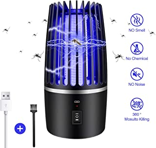 Antimosquitos, USB Recargable Matar Mosquitos Lámpara Eléctrica Repelente de Insectos, Interior al Aire Libre, Anti Mosquitos Control de Plagas, Zappers Potente Atracante para Patio Trasero Camping