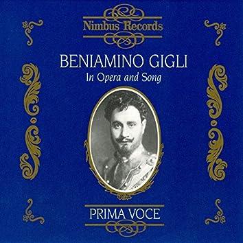 Beniamino Gigli in Opera and Song