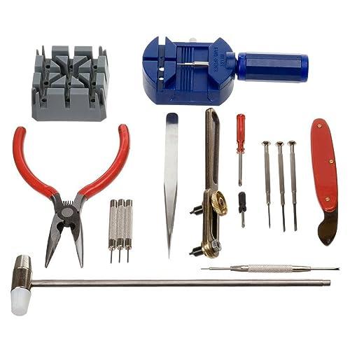 Generic 16-Pcs 16x Tool Kit for Watch Repair, Multicolore