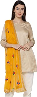embroidered suit dupatta