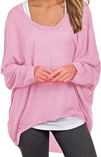 ce3da12e4c UGET Women s Sweater Casual Oversized Baggy Off-Shoulder Shirts Batwing  Sleeve Pullover Shirts Tops