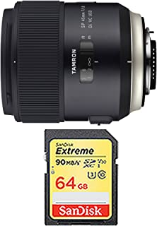 Tamron SP 45mm f/1.8 Di VC USD Lens for Nikon Mount Includes Bonus Sandisk 64GB Extreme SD Memory UHS-I Card w/ 90/60MB/s Read/Write