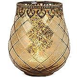 matches21 Windlicht Teelichtglas Kerzenglas Orientalisch Gold antik Glas/Metall Vintage - 3 Größen zur Auswahl – 18 cm