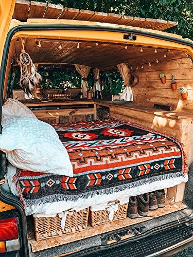 """Peel Forest Manta de playa Red Party manta de camping manta de pícnic de algodón suave colcha para excursionismo Yoga Viaje Vanlife (60 """"X80)"""