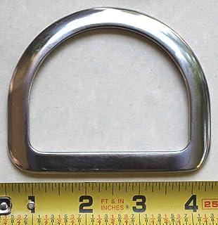PRORIDER Trilho para sela de cavalo de aço inoxidável de 7,6 cm com sela chanfrada para montagem Dee 40338