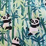 Werthers Stoffe Stoff Baumwolle Meterware grün Panda