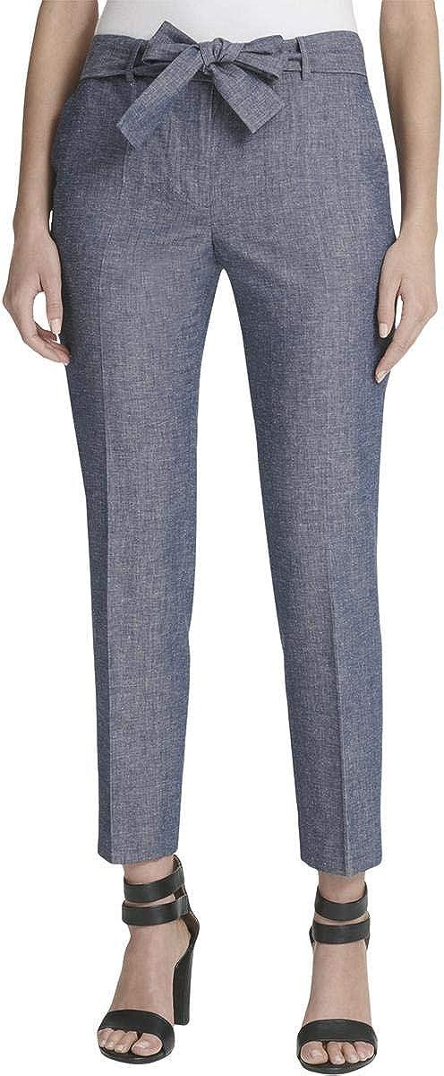 DKNY Womens Blue Straight Leg Wear to Work Pants Size 6P