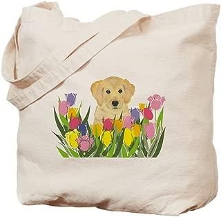 CafePress Golden Retriever Natural Canvas Tote Bag, Reusable Shopping Bag