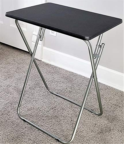 eHemco Folding TV Tray Tables, Black, Set of 2