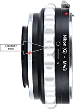 Adapter to Convert Nikon F-Mount Lens to MFT Lens for Mirrorless Micro Four Thirds M4/3 Digital Camera (D and G Type Lens)