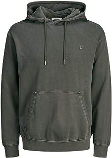 Jack & Jones Men's JJEWASHED SWEAT HOOD NOOS Hoodie Sweatshirt