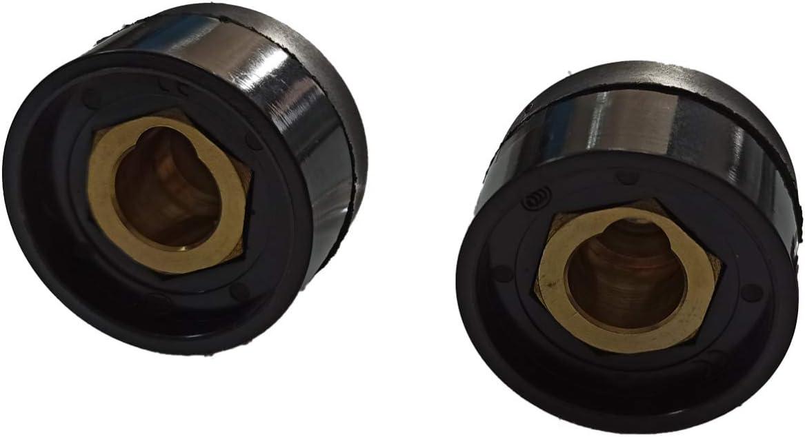 ELCAN Conector rapido base hembra 35-50mm para cable soldadura DKZ35-50 o DKJ35-50 315A utilizado en máquinas de soldadura y corte como conexiones de potencia (2 unidades)